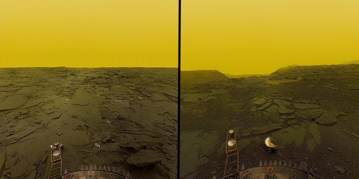 The Soviet Union landed on Venus Photos from the surface